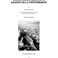 Diseño sismo-resistente basado en la performance