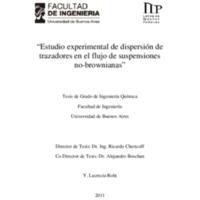 Estudio experimental de dispersión de trazadores en el flujo de suspensiones no-brownianas